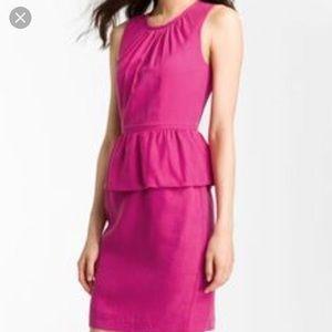 Trina Turk Pink Peplum Dress
